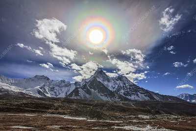 Solar corona over the Himalayas