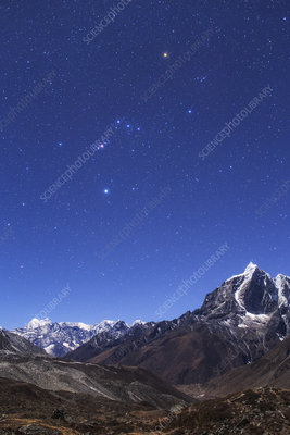 Orion over the Himalayas