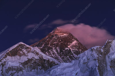 Alpenglow on Mount Everest