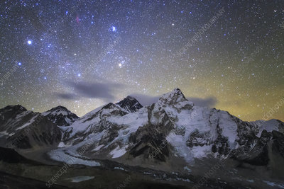 Pleiades over Mount Everest