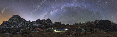 Milky Way and zodiacal light over the Himalayas