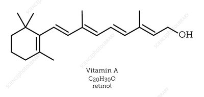 Molecular structure of retinol