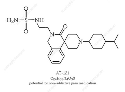 Painkiller molecule AT-121