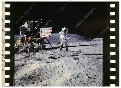 Apollo 16 astronaut on the Moon - Jumping John Young