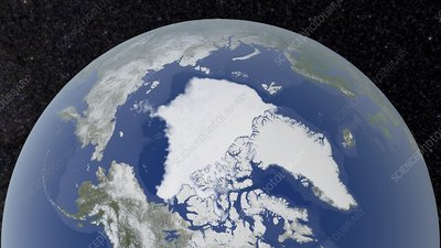 Arctic ice minimum extent, 2018