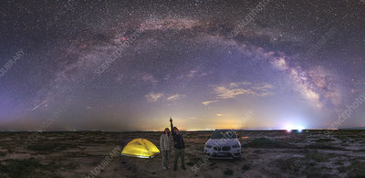 Couple viewing the Milky Way