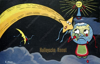 Halley's Comet impact, 1910 cartoon