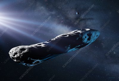 Interstellar comet 'Oumuamua, illustration