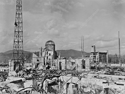 Atomic bomb destruction, Hiroshima, 1948