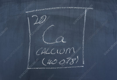 Chemical element calcium, illustration