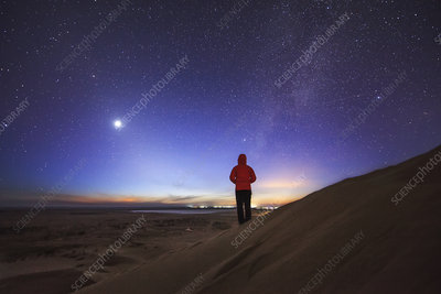 Milky Way and Venus over Inner Mongolia