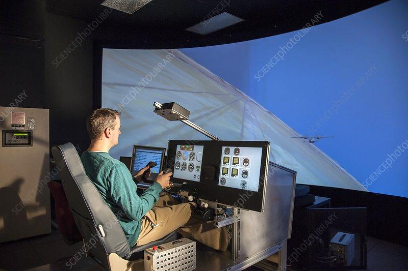 NASA X-57 Maxwell aircraft simulator