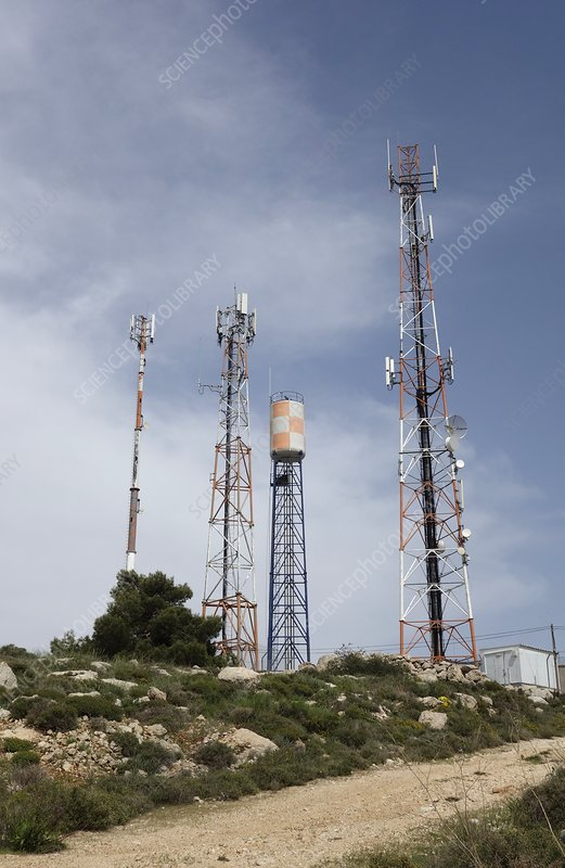 Communications masts, West Bank