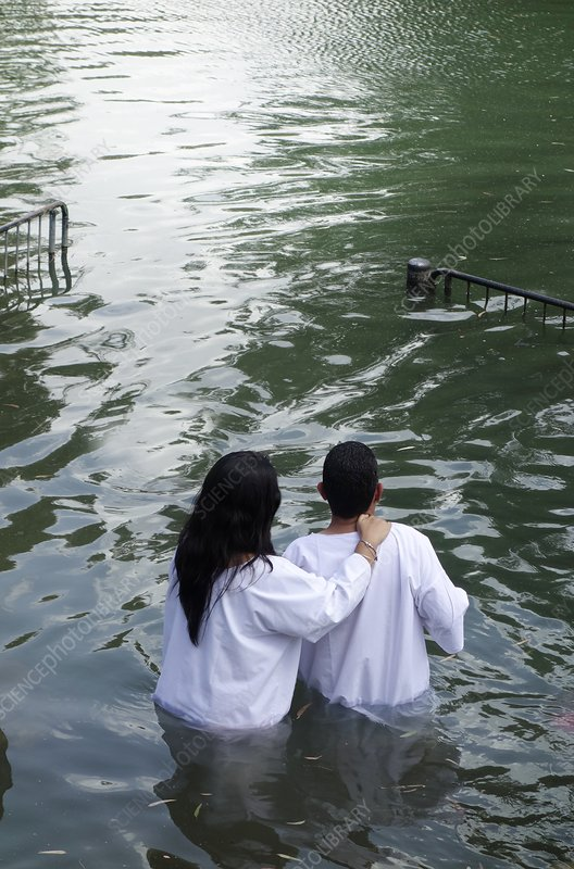 Jordan River baptism, Israel