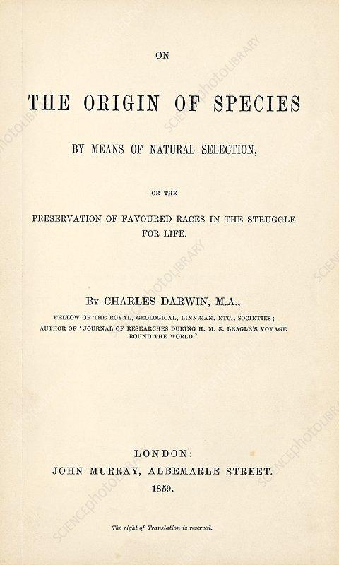 On the Origin of Species (1859)