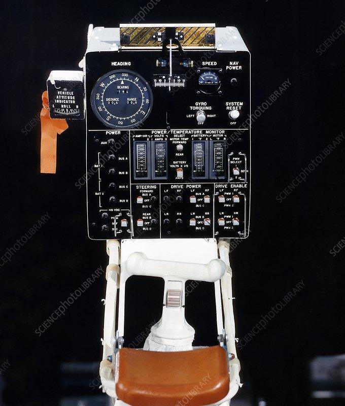Lunar Roving Vehicle controls, 1971