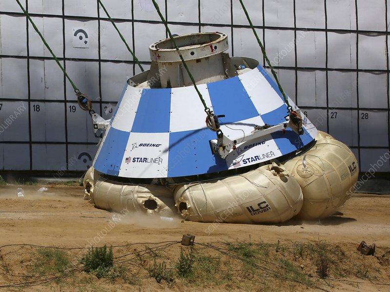 Starliner spacecraft capsule landing test, 2017