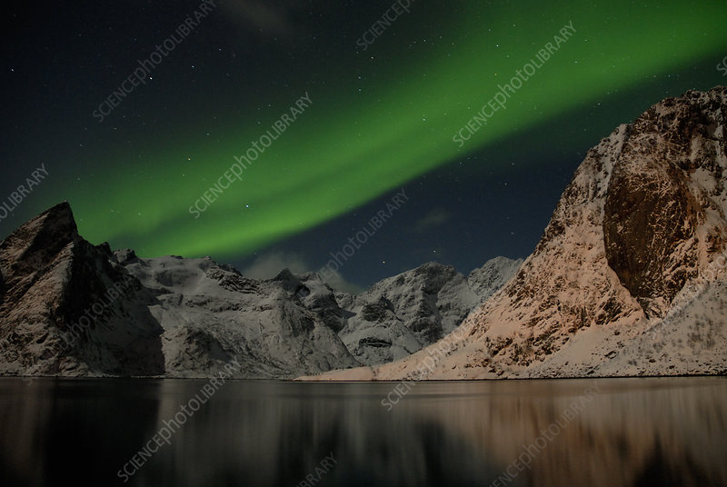 The Northern lights viewed from Norway