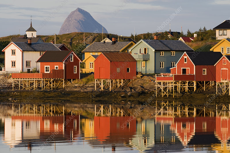 The fishing village of Lovund, Norway
