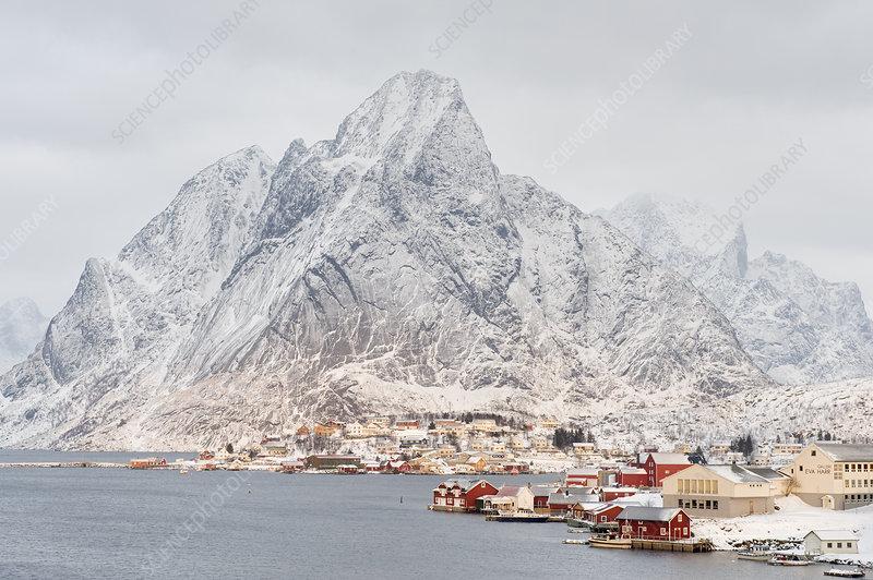Reine fishing village, Moskenes, Lofoten, Nordland, Norway