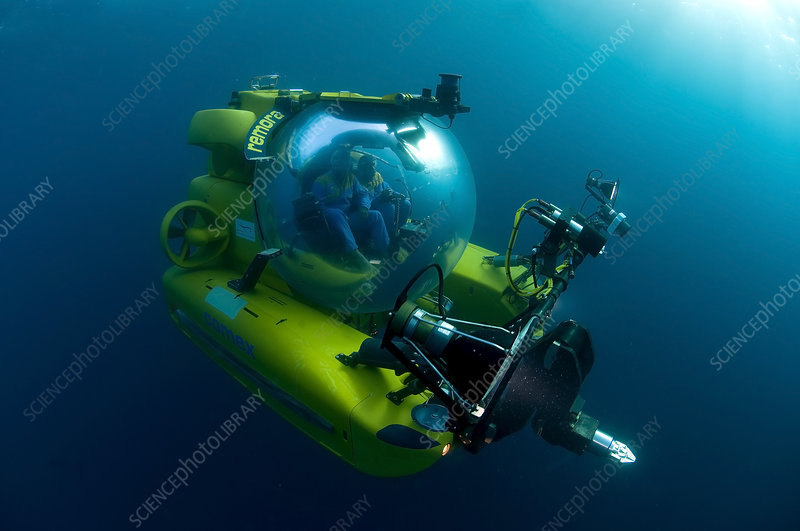 Camerman in Remora submersible