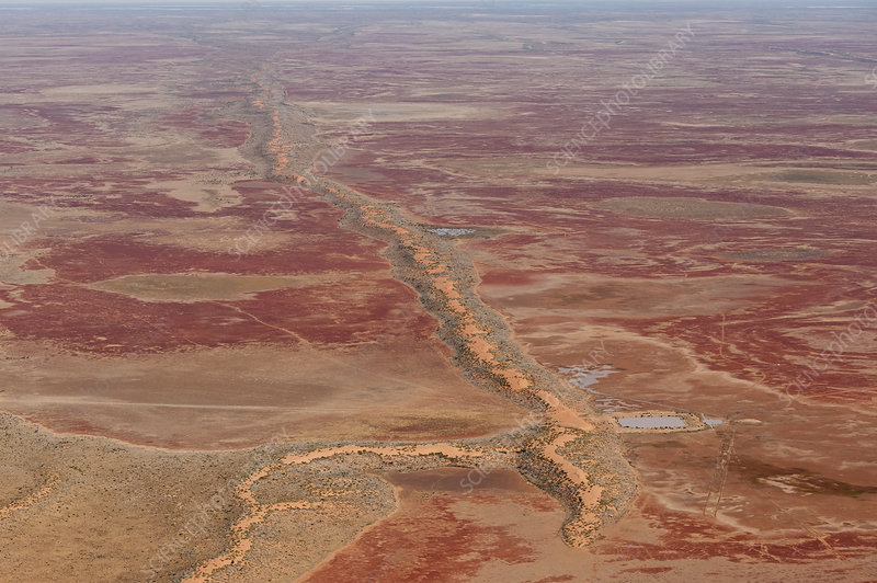 Aerial view of Sturt Stoney Desert, Australia