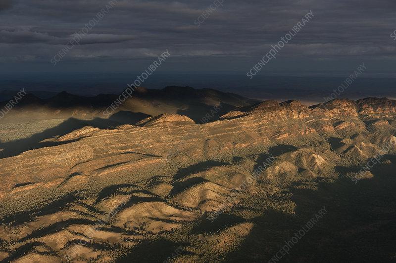 Aerial view of Wilpena Pound, Australia