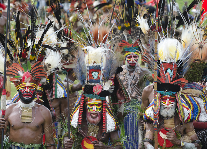 Men of Mendi from the Southern Highlands, Papua New Guinea