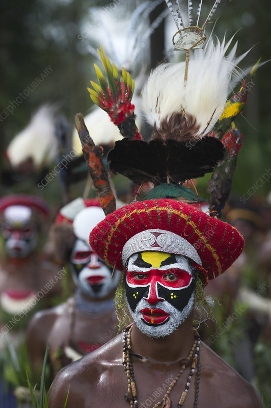 Member of Sing-sing group, Papua New Guinea