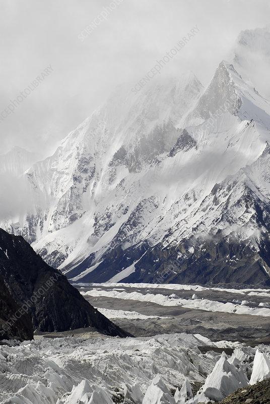View of the Baltoro Glacier, Pakistan
