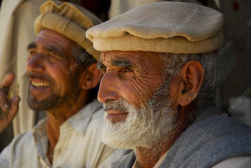 Portrait of two Balti men, Skardu, Pakistan