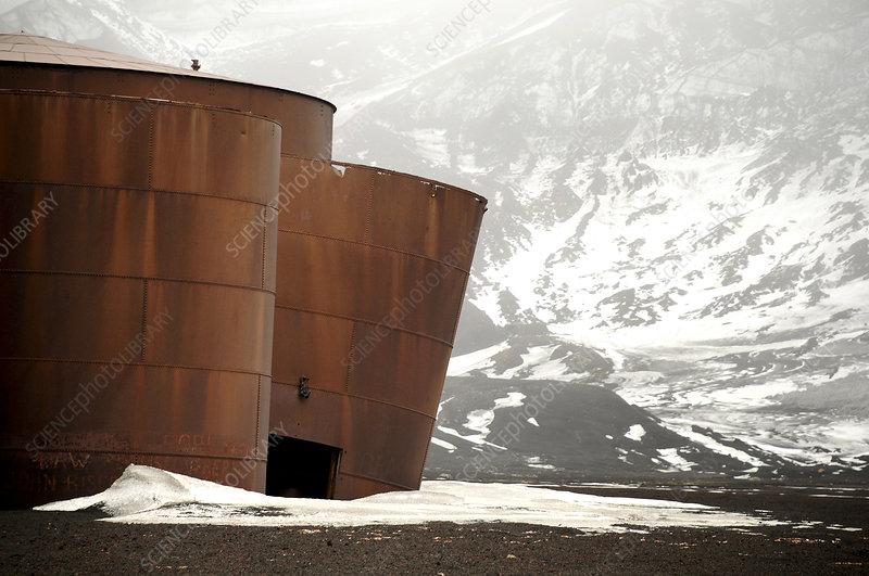 Abandoned whaling station, Deception Island, Antarctica