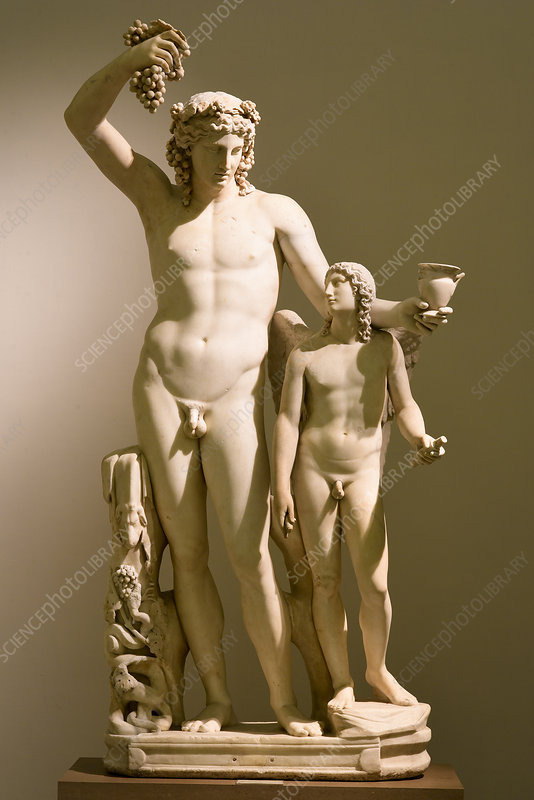 Roman statue of Dionysus and Eros, 2nd century AD