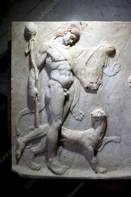Roman frieze of Hercules
