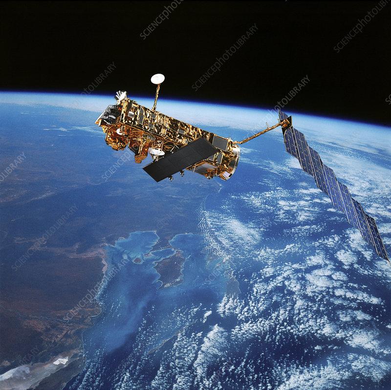 Envisat Earth observation satellite, illustration