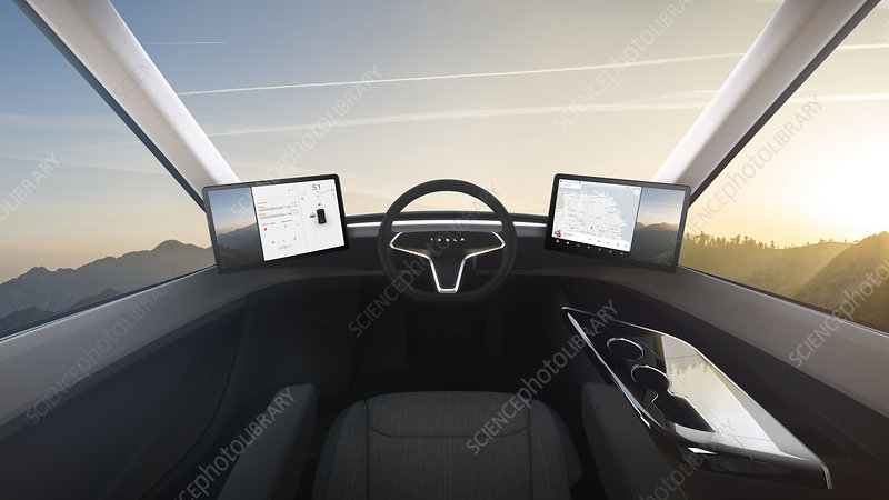 Tesla Semi electric lorry, illustration