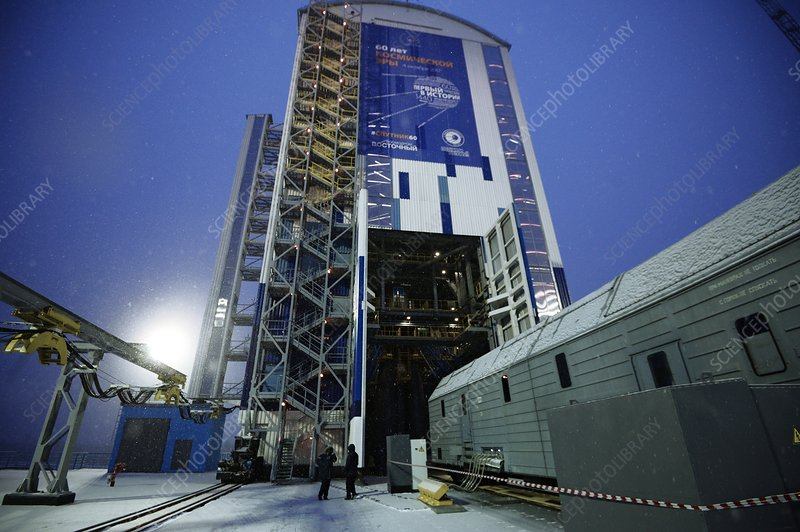 Meteor weather station launch, Russia