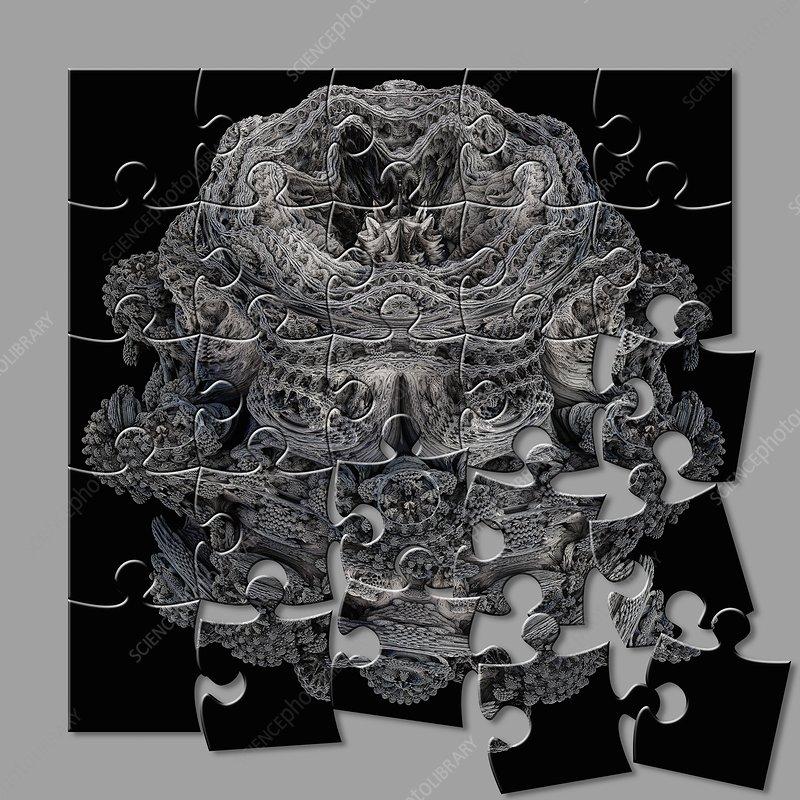 Mandelbulb fractal puzzle, illustration