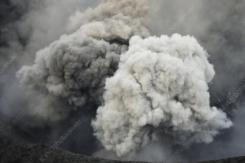 Ash cloud from Yasur volcano, Tanna Island, Vanuatu