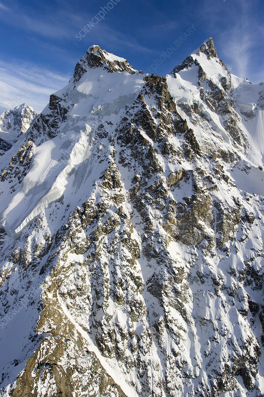 Dykh-Tau summit, Central Caucasus Mountains, Russia
