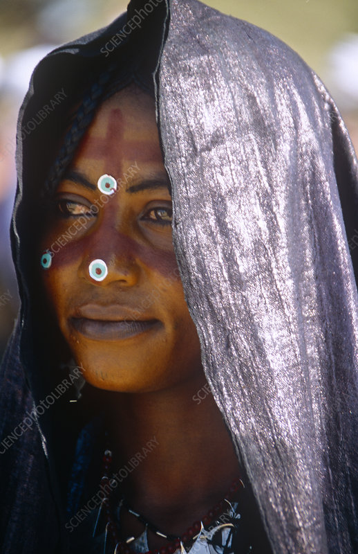 Portrait of woman in traditional clothing, Niger