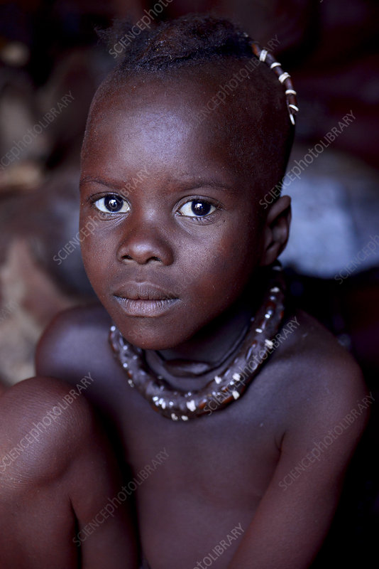 Portrait of young himba boy, Kaokoland, Namibia