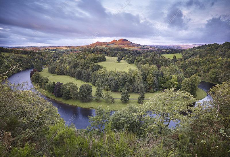 Scott's View looking towards Eildon Hill, Scotland, UK
