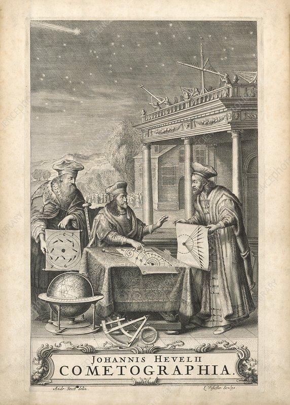 Hevelius's book on comets, 1668