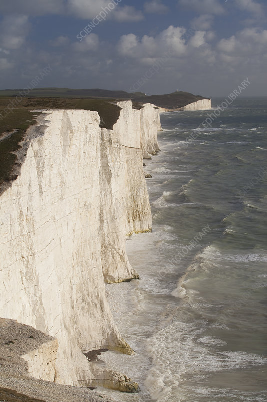 Seven Sisters chalk cliffs, South Downs, England