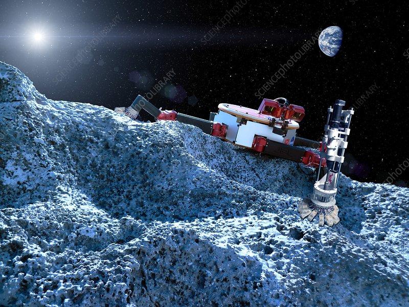 Flight Opportunities asteroid mission, illustration