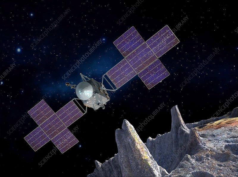 Psyche asteroid mission, illustration