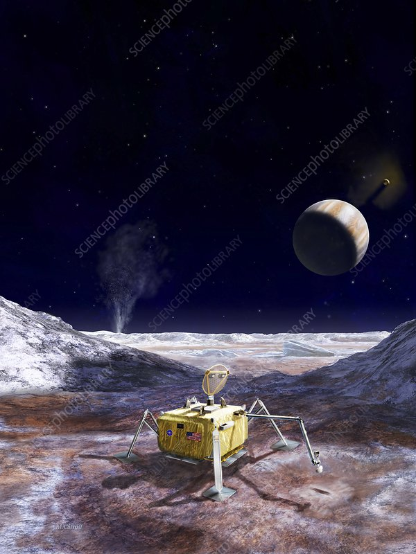 Lander for future mission to Europa, illustration