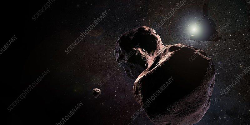 New Horizons encounters 2014 MU69, illustration
