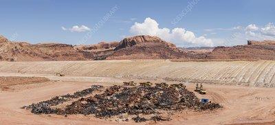 Removal of Uranium Mine Tailings, Utah, USA